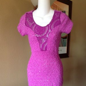 VOOM by Joy Han fuchsia dress